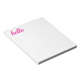 Hello Cute Colorful Hello Gifts Note Pad