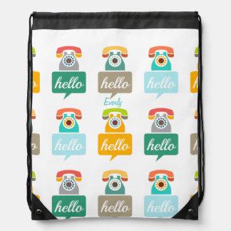 Hello Cute Colorful Hello Backpack