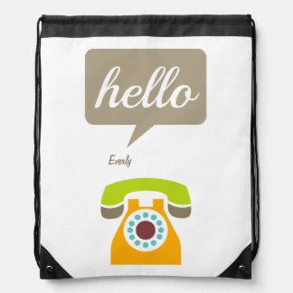 Hello Cute Colorful Hello Backpacks