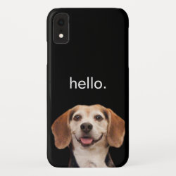 Case-Mate Barely There Apple iPhone XR Case with Beagle Phone Cases design