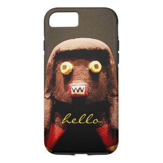 """Hello"" Cute, Funny, Sweet, Odd Face Figure Photo iPhone 8/7 Case"