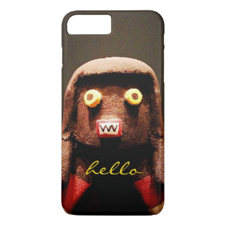 """Hello"" Cute, Funny, Sweet, Odd Face Figure Photo iPhone 8 Plus/7 Plus Case"