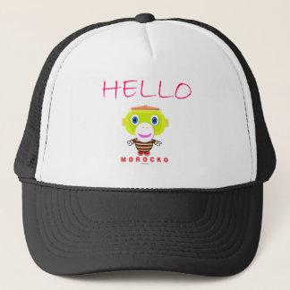 Hello-Cute Monkey-Morocko Trucker Hat