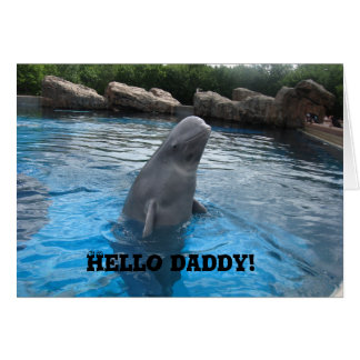 Hello Daddy HAPPY FATHER'S DAY with Beluga Whale Card