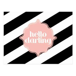 Hello Darling Post Card