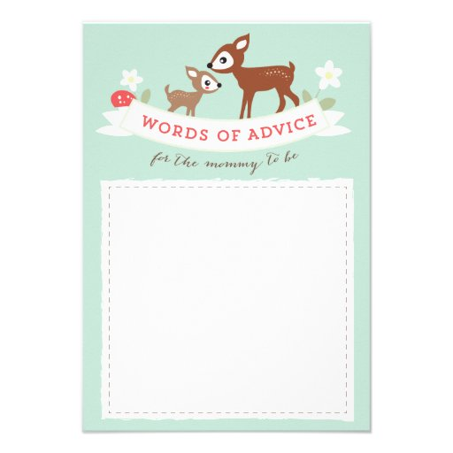 Hello Deer! Advice Cards Baby Shower Game