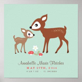 Hello Deer! Baby Nursery Wall Art