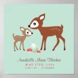 Hello Deer! Baby Nursery Wall Art Poster