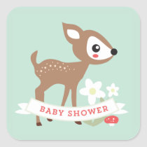 Hello Deer! Baby Shower Stickers
