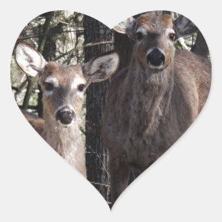 Hello Deery Heart Sticker