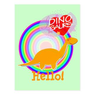 Hello Dinosaur Postcard