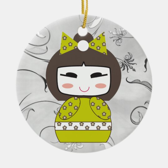 Hello Doll 2 - SRF Ceramic Ornament
