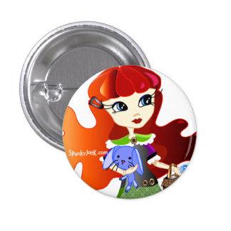 Hello Dollies: Fira and Bluebunny Headshot Pinback Button