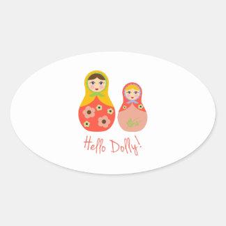 Hello Dolly! Oval Sticker