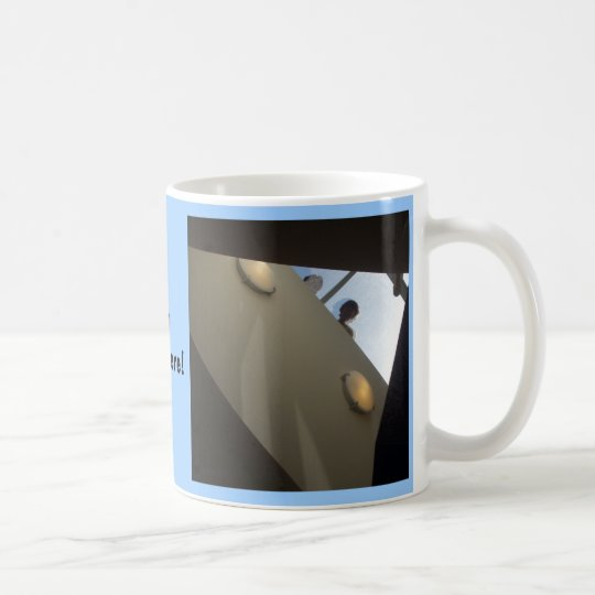 Hello Down There! skylight peering down mug