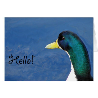 Hello Duck Card