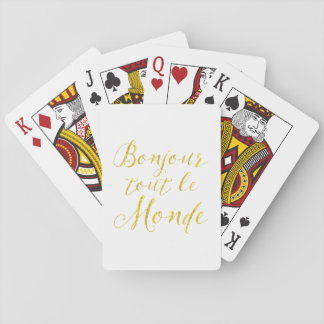 Hello Everyone!  Bonjour Tout le Monde! Card Deck