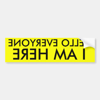 hello everyone car bumper sticker