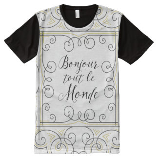 Hello Everyone - French Teacher's Greeting! All-Over Print Shirt