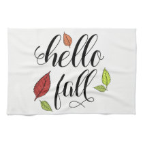 Hello Fall Kitchen Towel