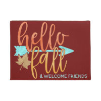 Hello Fall Welcome Mat for Autumn