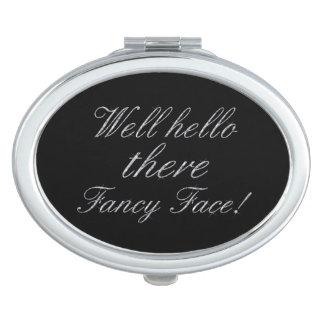 Hello Fancy Face Diamond Bling Mirror For Makeup