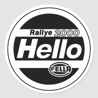 Hello Fella Rally Lights Classic Round Sticker