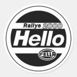 Hello Fella Rally Lights Sticker