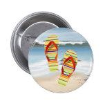 Hello Flip Flops 2 Inch Round Button