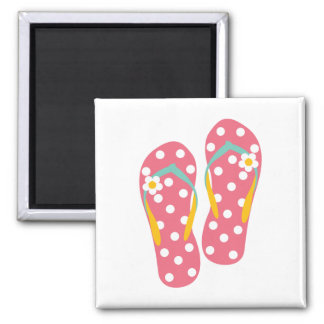 Hello Flip Flops 2 Inch Square Magnet