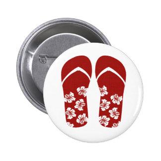 Hello Flip Flops Buttons
