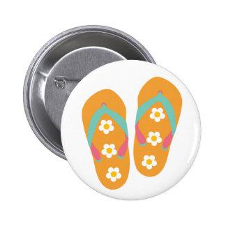 Hello Flip Flops Pinback Buttons