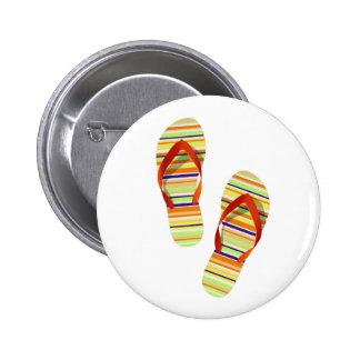 Hello Flip Flops Pinback Button