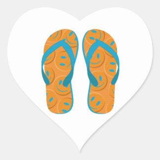 Hello Flip Flops Heart Sticker