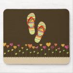 Hello Flip Flops Mouse Pads