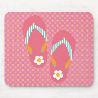 Hello Flip Flops Mouse Pad