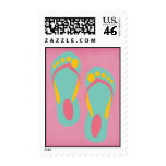Hello Flip Flops Postage Stamp