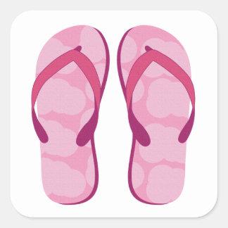 Hello Flip Flops Square Sticker