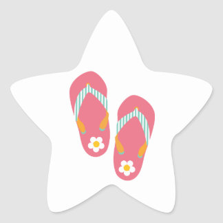 Hello Flip Flops Star Sticker