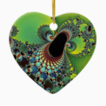 Hello - Fractal Ceramic Ornament
