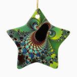 Hello - Fractal Ceramic Ornament