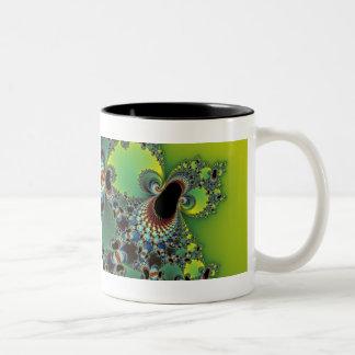 Hello - Fractal Two-Tone Coffee Mug