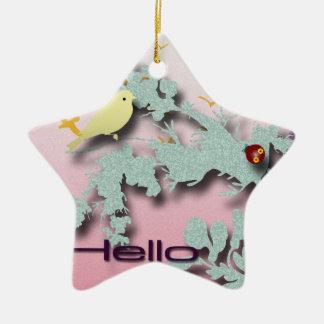 Hello Friend Ceramic Ornament