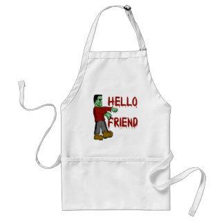 Hello Friend Creepy Frankenstein T shirts, Hoodies Adult Apron