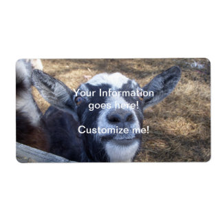 Hello Friendly Goat Label