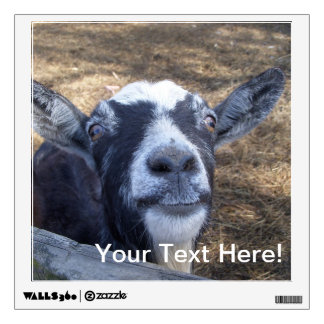 Hello Friendly Goat Wall Decal