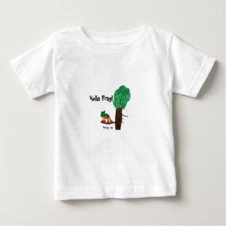 Hello Frog! Playful design on a kids tshirt