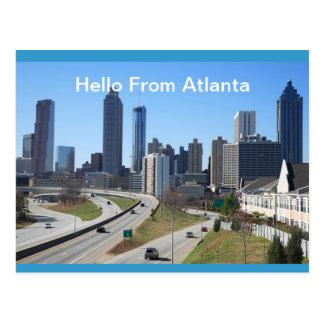 Hello From Atlanta   Postcard