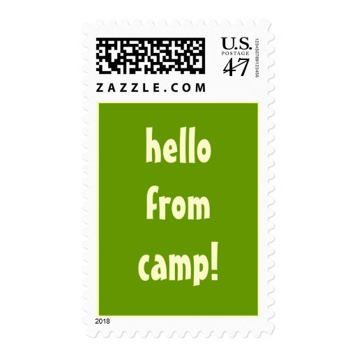 hello from camp! stamp