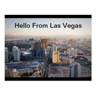 Hello From Las Vegas Strip  Postcard